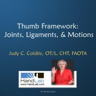 Thumb Framework:  Joints, Ligaments & Motions